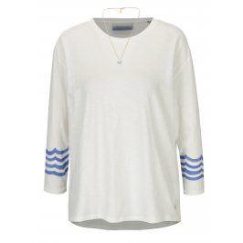 Krémové oversize tričko s potiskem na zádech a řetízkem ve zlaté barvě Scotch & Soda