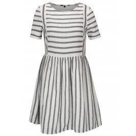 Bílo-černé pruhované šaty VERO MODA Sunny