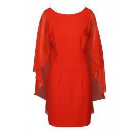 Červené šaty s volánovými rukávy VERO MODA Hannah