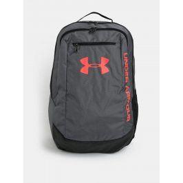 Tmavě šedý voděodolný batoh s neonovými detaily Under Armour Hustle