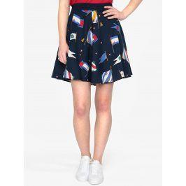 Tmavě modrá vzorovaná sukně Tommy Hilfiger