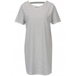 Černo-bílé šaty s výstřihem na zádech Jacqueline de Yong Catia