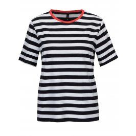 Bílo-modré pruhované volné tričko ONLY Live Love