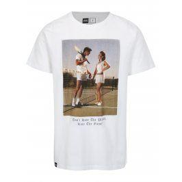 Bílé tričko s potiskem Dedicated Player