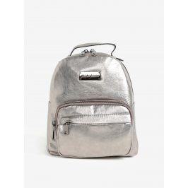 Metalický batoh ve stříbrné barvě Claudia Canova Damsel