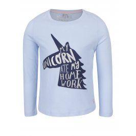 Světle modré holčičí tričko s jednorožcem Tom Joule