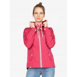 Tmavě růžová pruhovaná bunda Ragwear Monade Stripes