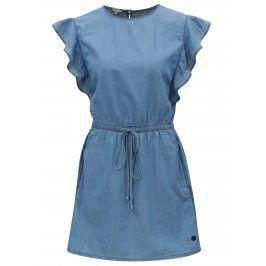 Modré džínové šaty s volány Pepe Jeans Glade