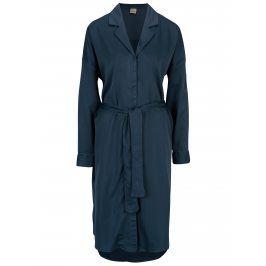 Tmavě modré košilové šaty Selected Femme Leonora