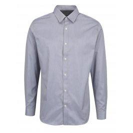Šedá vzorovaná formální slim fit košile Selected Homme Done