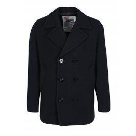 Tmavé modrý vlněný kabát Jack & Jones Vintage Navy