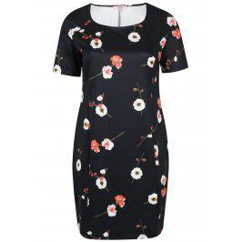 Černé květované pouzdrové šaty LA Lemon