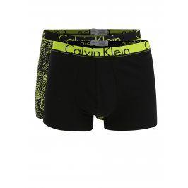 Sada dvou zeleno-černých vzorovaných boxerek Calvin Klein