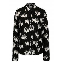 Černá vzorovaná košile s dlouhým rukávem VILA Mava