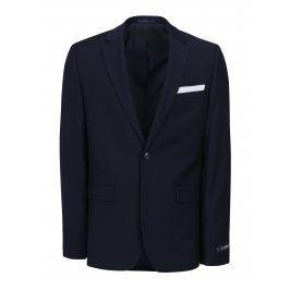 Tmavě modré oblekové slim sako Burton Menswear London