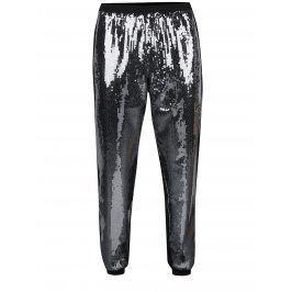 Černé zkrácené elastické kalhoty s flitry Idol Ray