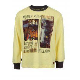 Žluté klučičí tričko s potiskem North Pole Kids