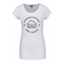 Bílé dámské tričko s potiskem Horsefeathers Sally