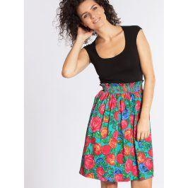 Červeno-zelená vzorovaná sukně Blutsgeschwister