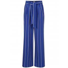 Modré pruhované široké kalhoty Selected Femme Pilea