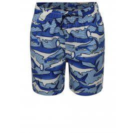 Modré klučičí plavky s motivem žraloků Tom Joule