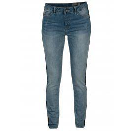 Modré slim džíny s pruhy na bocích VERO MODA Seven