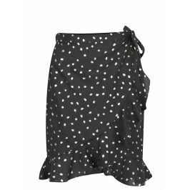 Černá zavinovací sukně s potiskem VERO MODA Henna