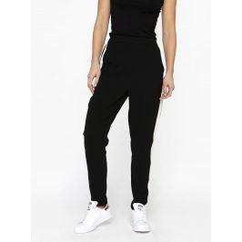 Černé kalhoty s krémovým pruhem na vnější straně MISSGUIDED
