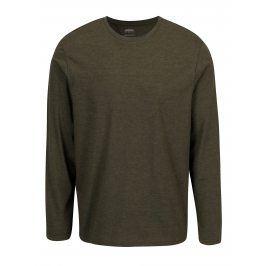 Zelené žíhané tričko s dlouhým rukávem Burton Menswear London