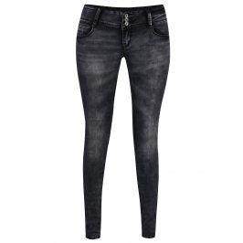 Šedé džíny s vyšisovaným efektem a nízkým pasem Haily's Camila