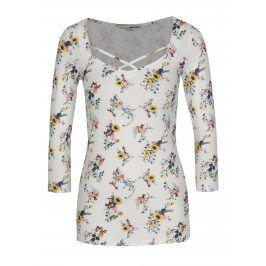 Bílé květované tričko TALLY WEiJL