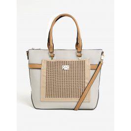 Béžovo-krémová kabelka s koženkovou aplikací Bessie London