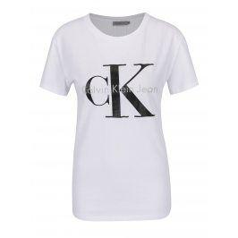 Bílé dámské tričko Calvin Klein Jeans Shrunken