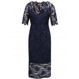 Tmavě modré krajkové šaty VILA Fana