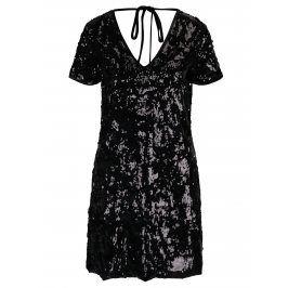 Černé sametové šaty s flitry Miss Selfridge