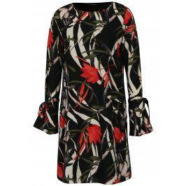 Černé květované šaty VERO MODA Lihn