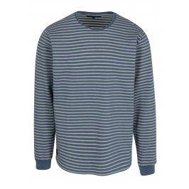 Modro-bílé pánské pruhované tričko Makia Yacht