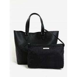 Černý shopper s pouzdrem 2v1 Pieces Maribel