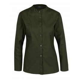 Tmavě zelená košile bez límečku ZOOT