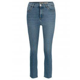 Modré zkrácené mom džíny s vysokým pasem TALLY WEiJL