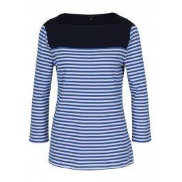 Modré pruhované tričko s lodičkovým výstřihem Nautica
