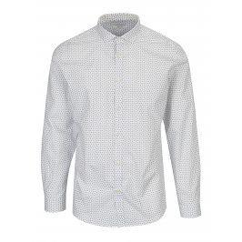 Bílá vzorovaná slim fit košile Jack & Jones Premium Samson