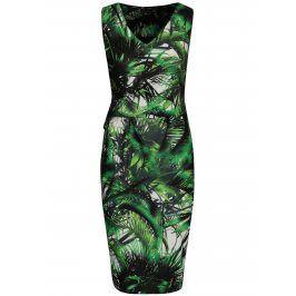 Zelené vzorované pouzdrové šaty Smashed Lemon