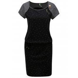 Černé vzorované šaty Ragwear Mike