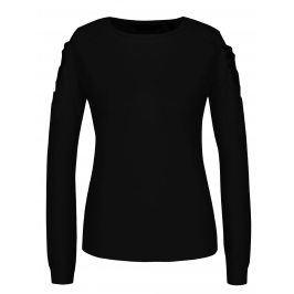 Černý svetr s průstřihy na ramenou a krajkovými detaily Dorothy Perkins