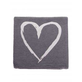 Krémovo-šedý povlak na polštář se srdcem Dakls