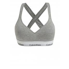 Šedá žíhaná sportovní podprsenka Calvin Klein
