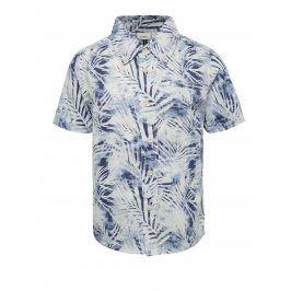 Bílo-modrá klučičí košile s potiskem name it Jawaii
