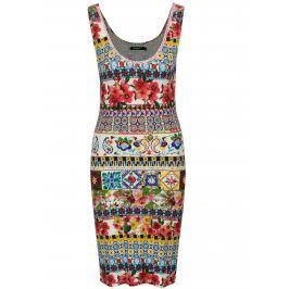 Barevné vzorované pouzdrové šaty Desigual Luana