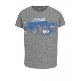 Šedé žíhané klučičí tričko s potiskem name it Vux